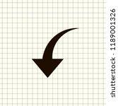 undo arrow icon  motion icon....   Shutterstock .eps vector #1189001326