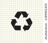 undo arrow icon  motion icon....   Shutterstock .eps vector #1189001353