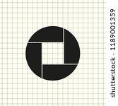 aperture  camera lens symbol | Shutterstock .eps vector #1189001359