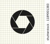 aperture  camera lens symbol | Shutterstock .eps vector #1189001383