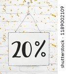 twenty 20   percent off black... | Shutterstock . vector #1189002109