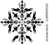 tattoo art tribal vector design.... | Shutterstock .eps vector #1189003510