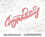 congratulations. vector... | Shutterstock .eps vector #1189006090