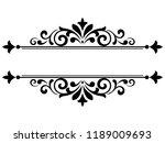 vintage black element. graphic... | Shutterstock .eps vector #1189009693