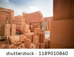 rough construction of the two... | Shutterstock . vector #1189010860