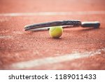 close up of tennis racket with... | Shutterstock . vector #1189011433