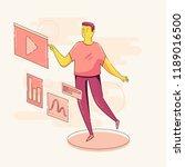 vector character technology... | Shutterstock .eps vector #1189016500