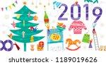 group of little people... | Shutterstock .eps vector #1189019626
