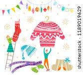 group of little people... | Shutterstock .eps vector #1189019629