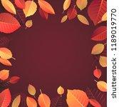 autumn seasonal banner template.... | Shutterstock . vector #1189019770