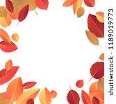 autumn seasonal banner template.... | Shutterstock . vector #1189019773