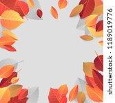 autumn seasonal banner template.... | Shutterstock . vector #1189019776