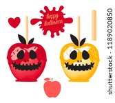 set apple with red and yellow... | Shutterstock .eps vector #1189020850