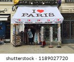 paris  france   may 13  2018 ... | Shutterstock . vector #1189027720
