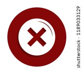 not icon in badge style. one of ... | Shutterstock .eps vector #1189033129