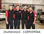 portrait of auto shop mechanics ... | Shutterstock . vector #1189039066