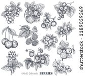 vector collection of hand drawn ... | Shutterstock .eps vector #1189039369