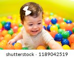 portrait of a adorable infant... | Shutterstock . vector #1189042519