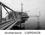 the black and white offshore... | Shutterstock . vector #118904428