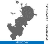 high quality map of moscow is a ... | Shutterstock .eps vector #1189048153