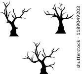 scary trees for halloween | Shutterstock .eps vector #1189049203