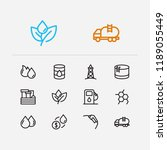 energy icons set. oil market... | Shutterstock .eps vector #1189055449