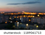 blurred lights of the evening... | Shutterstock . vector #1189061713