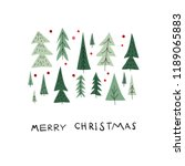 merry christmas tree happy new... | Shutterstock .eps vector #1189065883