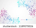 structure molecule and... | Shutterstock .eps vector #1189070026