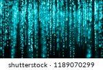 digital background blue matrix. ... | Shutterstock . vector #1189070299