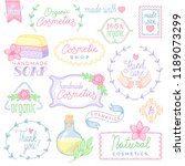 a set of labels and objects for ... | Shutterstock .eps vector #1189073299