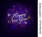 happy new year illustration... | Shutterstock .eps vector #1189074040