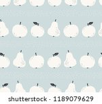 seamless pattern with apples... | Shutterstock .eps vector #1189079629