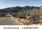 winter  sabino canyon  southern ... | Shutterstock . vector #1189081390