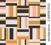 seamless geometric retro... | Shutterstock .eps vector #1189081510