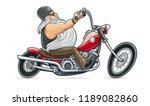 biker ride at motorcycle.... | Shutterstock .eps vector #1189082860