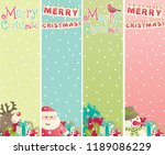 vertical merry christmas... | Shutterstock .eps vector #1189086229