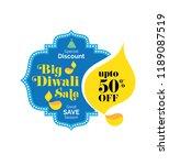 big diwali sale  offer banner... | Shutterstock .eps vector #1189087519