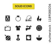 healthy icons set with ring ...