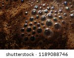 macro of aroma coffee foam...   Shutterstock . vector #1189088746