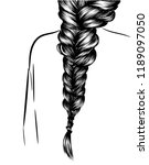 fashion illustration of a girl... | Shutterstock .eps vector #1189097050