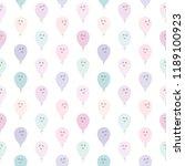cute pattern with kawaii... | Shutterstock . vector #1189100923