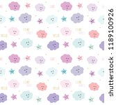 cute pattern background with... | Shutterstock . vector #1189100926