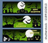 halloween banners leaflets... | Shutterstock .eps vector #1189102813