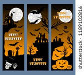 halloween banners leaflets... | Shutterstock .eps vector #1189102816