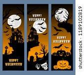 halloween banners leaflets...   Shutterstock .eps vector #1189102819