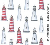 watercolor hand drawn pattern... | Shutterstock . vector #1189104043
