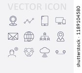 outline 12 connection icon set. ... | Shutterstock .eps vector #1189104580