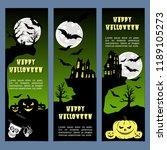 halloween banners leaflets... | Shutterstock .eps vector #1189105273