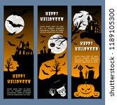 halloween banners leaflets... | Shutterstock .eps vector #1189105300